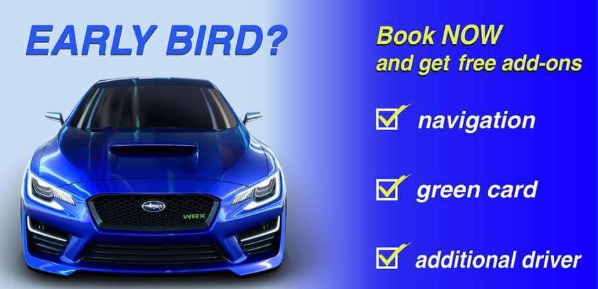 early bird savings car rental